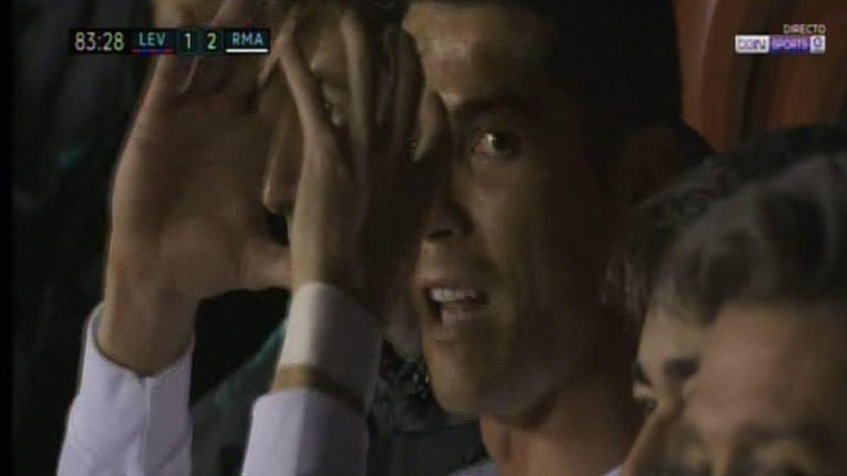 Enfado de Cristiano con el cámara: