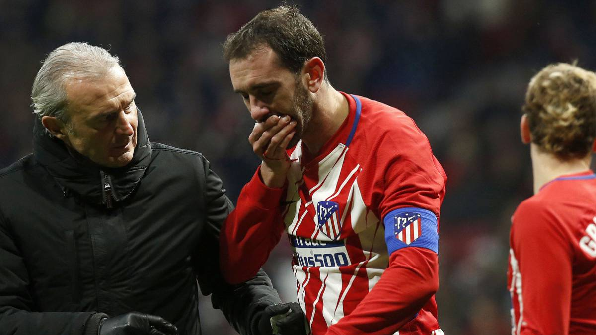 Atlético without Savic and Godín for the next four games