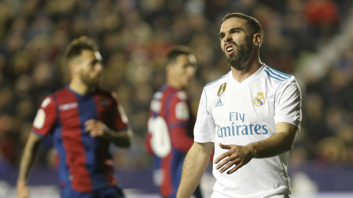 Dani Carvajal: Madrid right-back banned for first leg against PSG in the Champions League