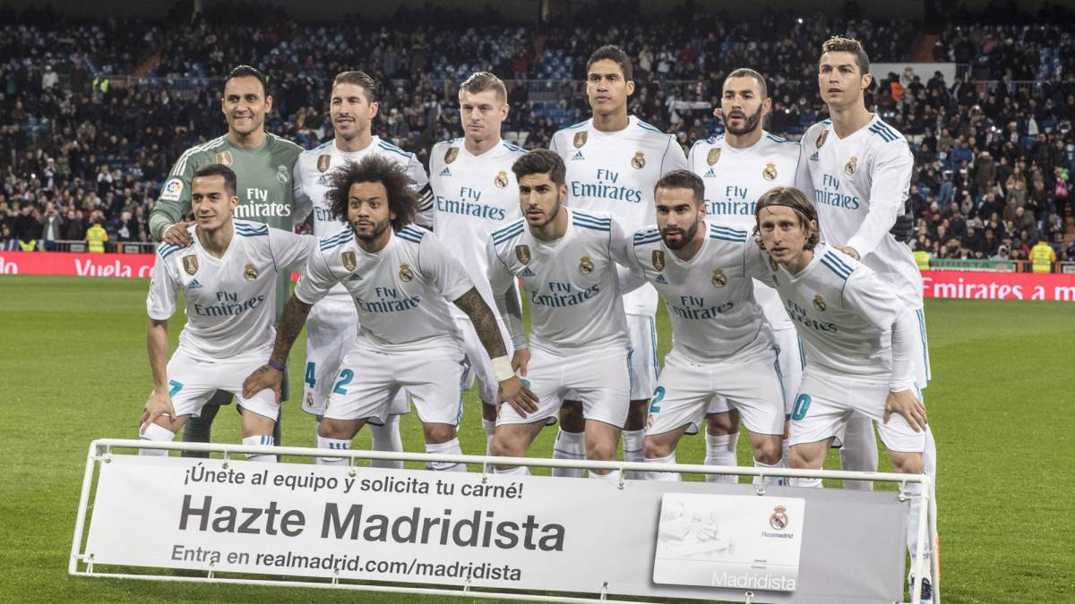 Once del Real Madrid ante la Real Sociedad.