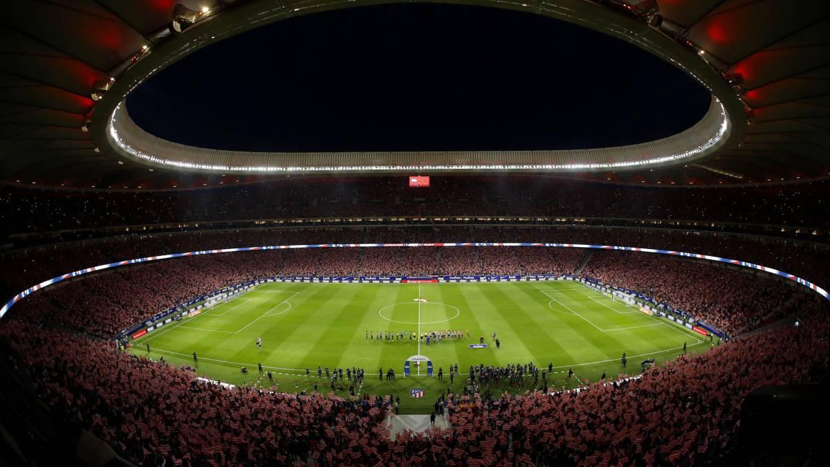 Panorámica del Wanda Metropolitano en el Atlético de Madrid-Málaga. Ante el Athletic de Bilbao también puede llenarse.