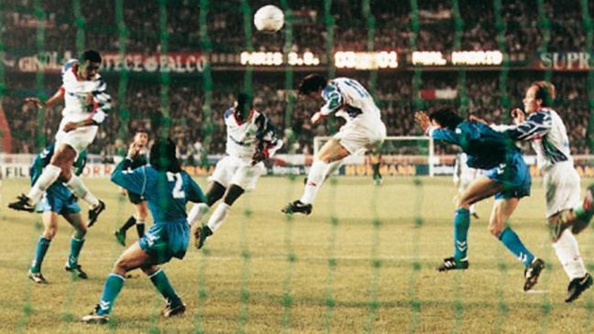 PSG's comeback from a 3-1 deficit against Real Madrid in 1993