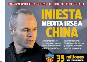 China back calling for Iniesta