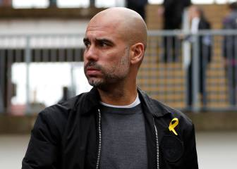 Guardiola charged for wearing 'political' yellow ribbon