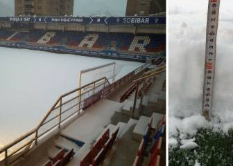 13cm of snow casts doubt upon tonight's Eibar-Villarreal game