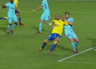 Barcelona concede a penalty for the first time in two years