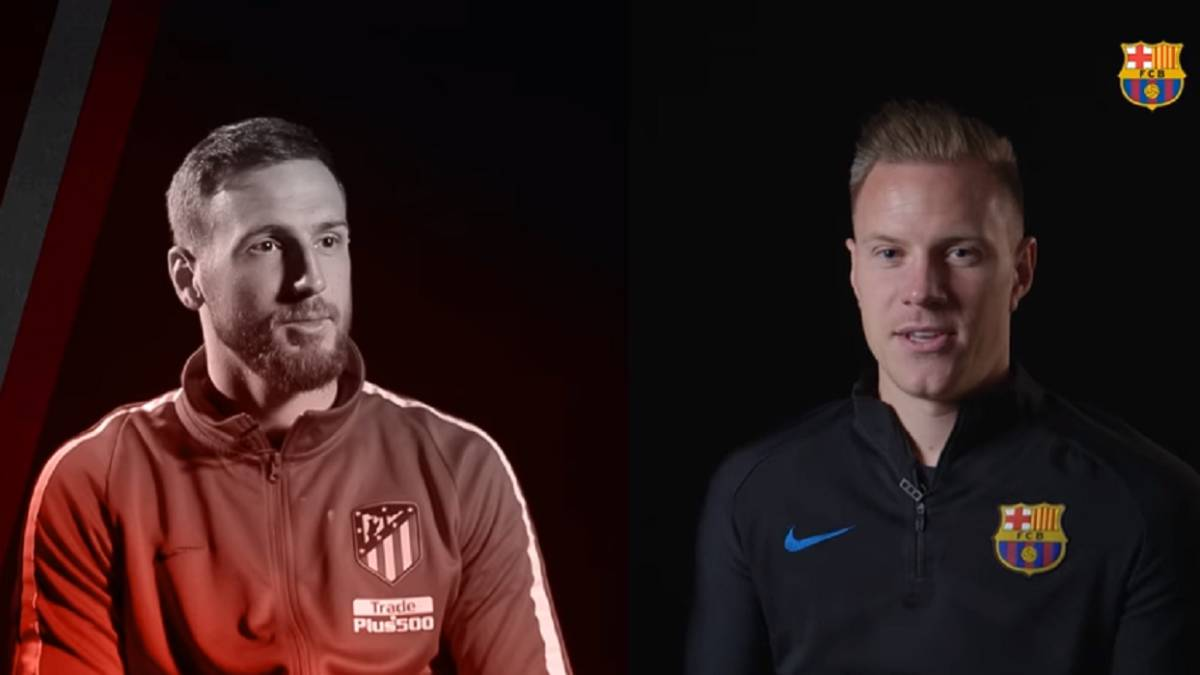 Ter Stegen and Oblak: face to face ahead of Sunday's clash