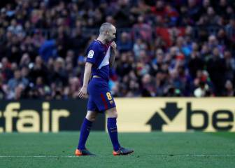 Iniesta a serious doubt for Chelsea return leg