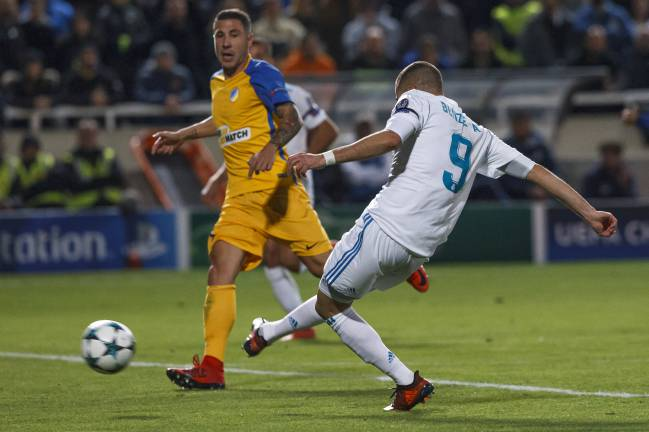Benzema grabs his second against APOEL.