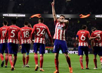Atleti steam through first leg against Lokomotiv