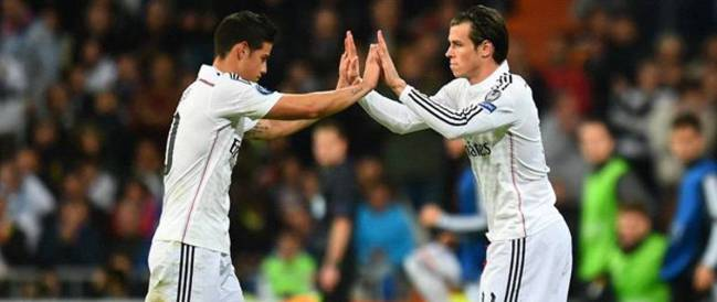 James y Bale, las dos últimas grandes inversiones del Real Madrid.