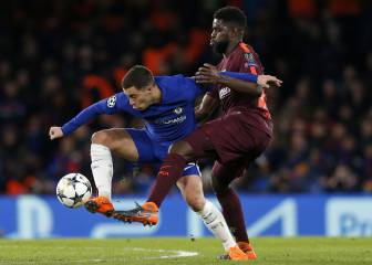 Hazard return to false nine as Conte looks for Barça plan