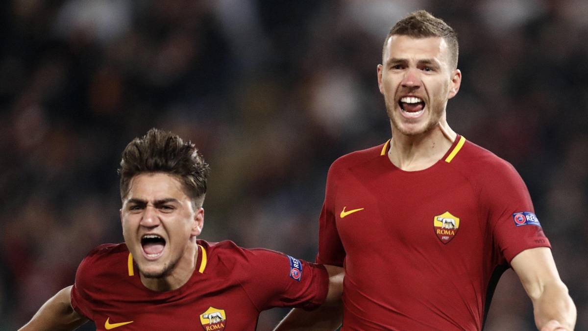 Dzeko strikes to take Roma into Champions League last eight