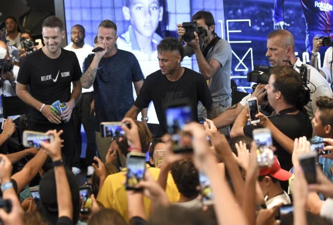 Neymar, en un acto de Nike.FERNANDO ZUERAS(DIARIO AS)