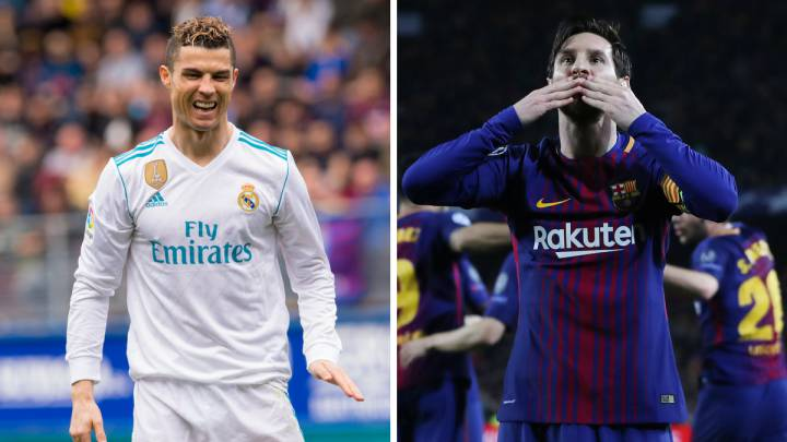 Cristiano Ronaldo (Real Madrid) y Leo Messi (Barcelona).