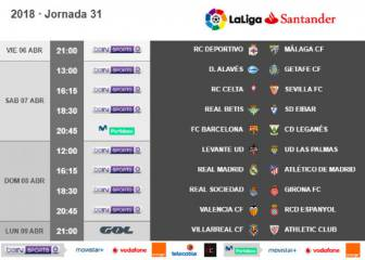 Madrid derby day date confirmed as week 31 ko times announced