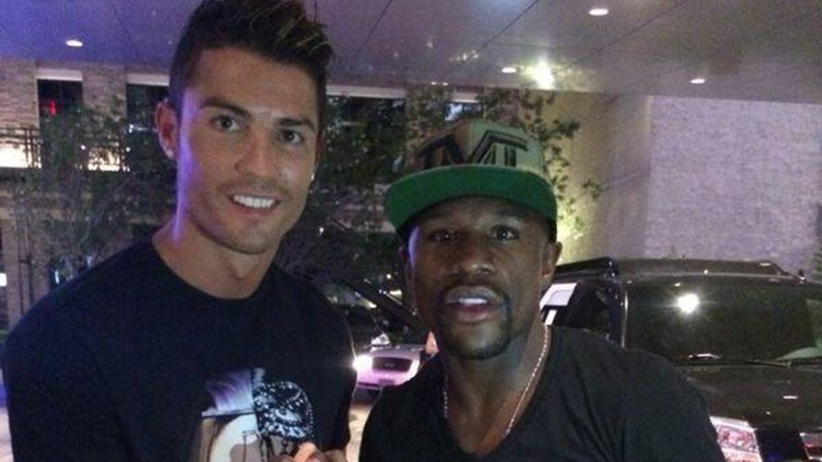 Cristiano y Mayweather.