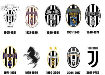 Juventus' logo evolution & that of some of Europe's other elite