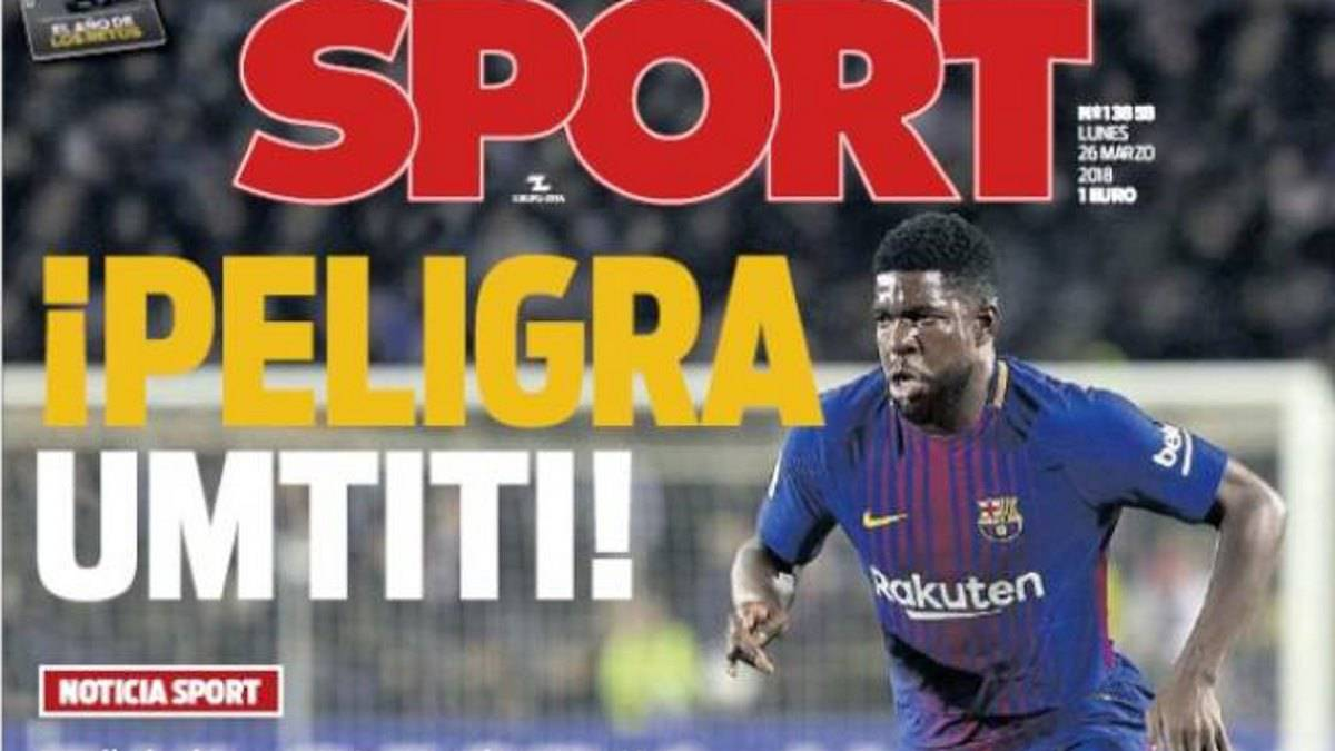 Umtiti's future at Barcelona in doubt
