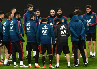 Spain training at the Wanda Metropolitano: live