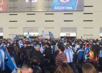 Argentina given incredible welcome to Wanda stadium