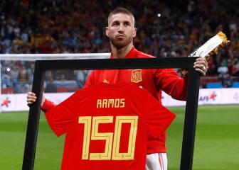 Sergio Ramos' Spain presentation for 150 games played