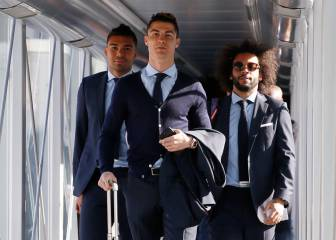 Cristiano and Zidane acclaimed by Madrid fans on Turin arrival