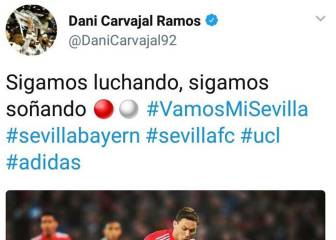 Carvajal and Sarabia social media team mix up on Twitter
