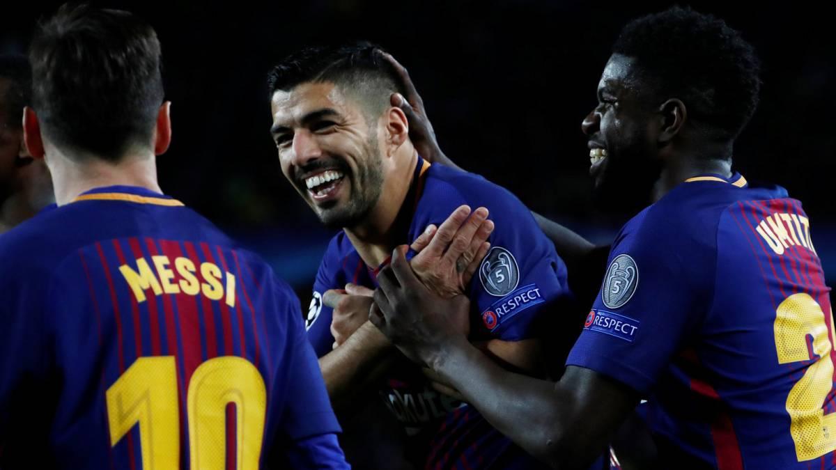 7d8d40627fb81 Barcelona 4-1 Roma  resumen