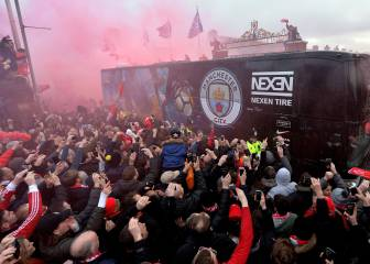 'Unacceptable': Man City team bus attacked with bottles outside Anfield