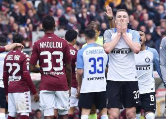 Inter Milan's Champions League place at risk after Torino loss
