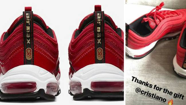 Nike Air Max 97 CR7 given by Cristiano Ronaldo (Real Madrid) to Marcus Rashford (Manchester United).
