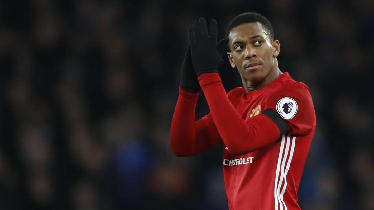 Anthony Martial con el Manchester United.