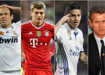 Familiar faces in the semi-final: James, Heynckes, Robben, Kroos