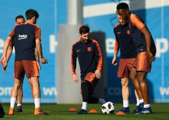 Barça put in one last session before the final against Sevilla