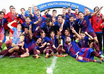 El Barça gana a lo grande su segunda Youth League