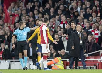 Simeone faces five-game ban for sending off against Arsenal