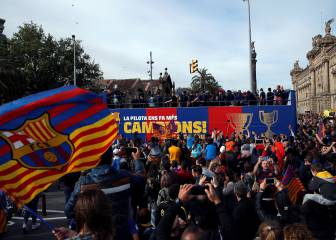 Barça's open-top bus celebration live streaming