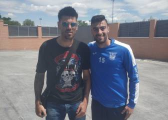 Víctor Valdés visits Leganés to learn from Asier Garitano