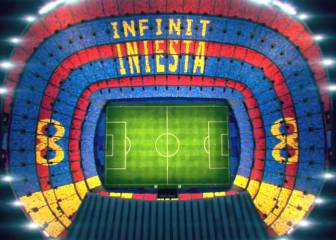 Camp Nou to create a farewell mosaic for Iniesta
