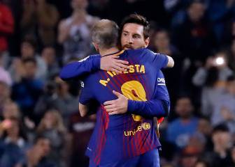 Messi and Iniesta set for symbolic substitution