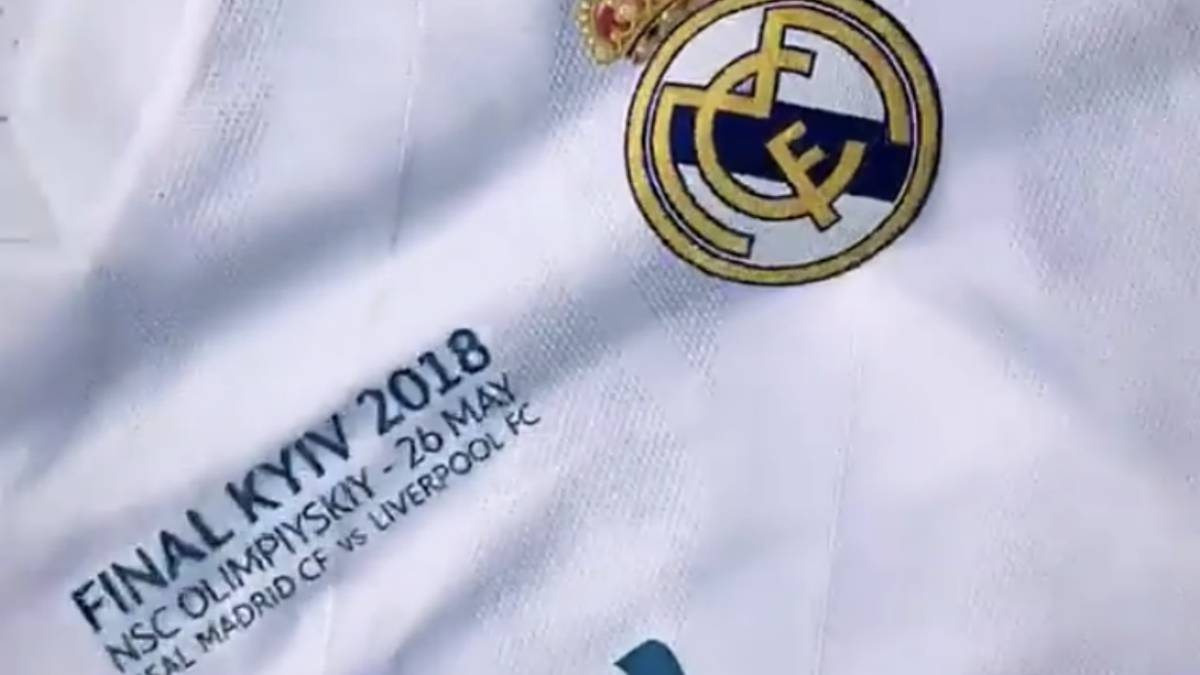 Camiseta del Real Madrid para la final de la Champions