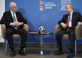 Vladimir Putin cites Spain as World Cup favourites