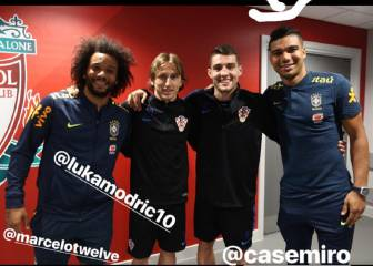 Marcelo, Kovacic, Casemiro and Modric get the feel of Anfield