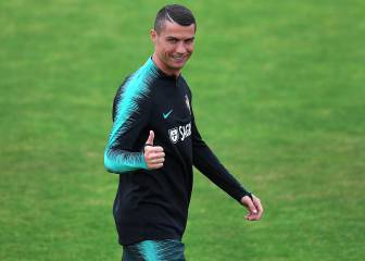 Ronaldo's first training with Portugal ahead of World Cup