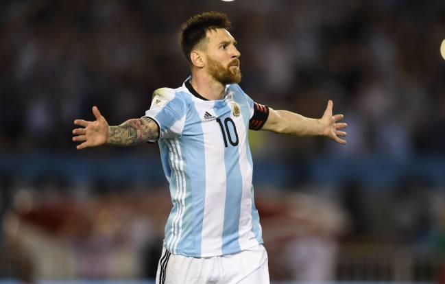 Messi con Argentina.