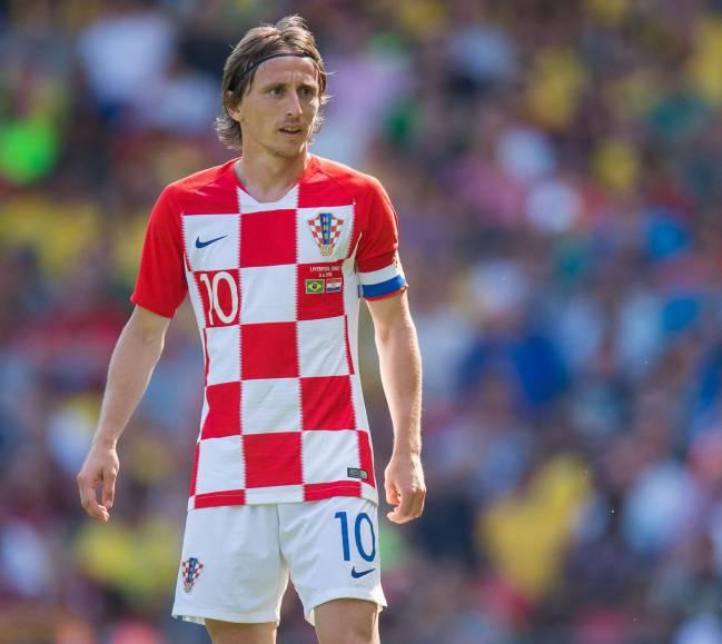 Modric con Croacia.