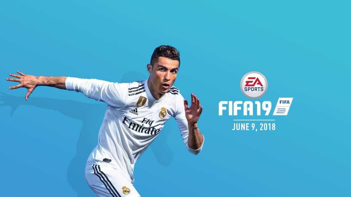 Cristiano Ronaldo in the new Real Madrid shirt for FIFA 19