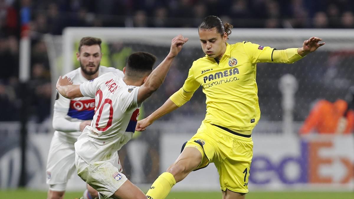 Enes Unal, en el partido ante el Lyon.
