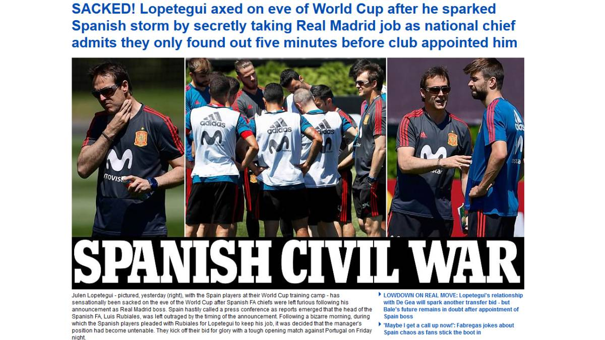 """Spain being punished for Lopetegui's treason"" - the world's media reacts"